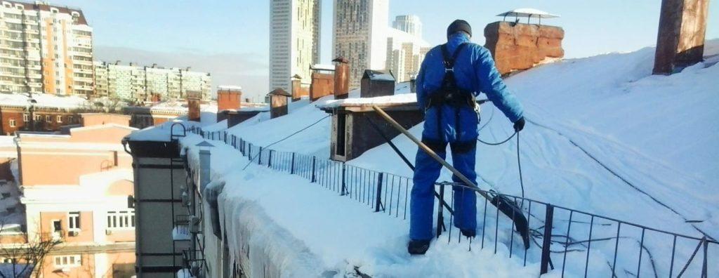 Уборка снега на крыше в Харькове и Днепре